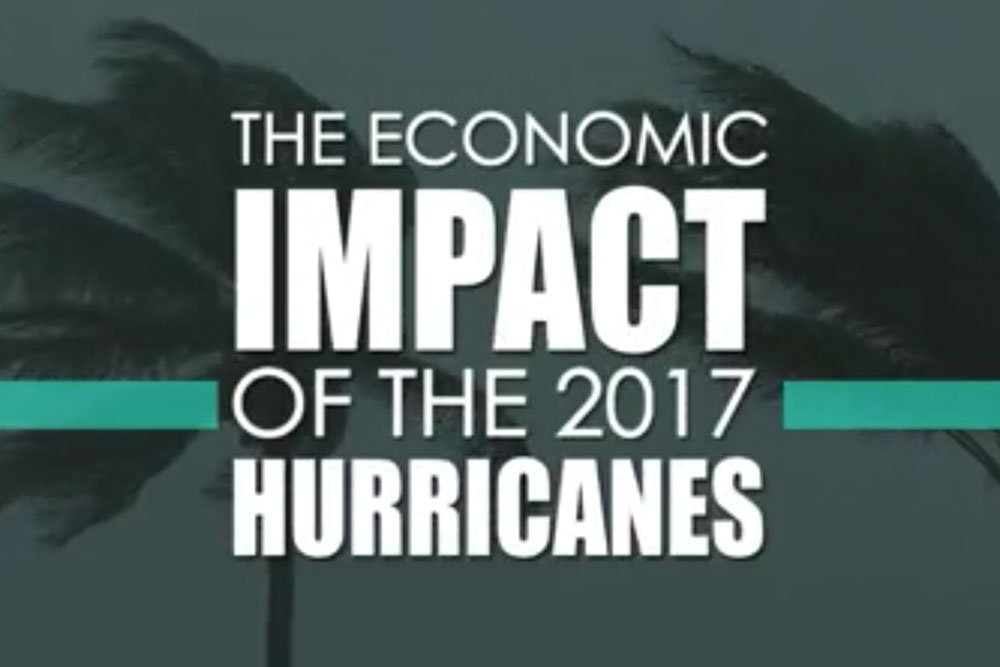 Cover image for the video showing the impact of the 2017 hurricanes